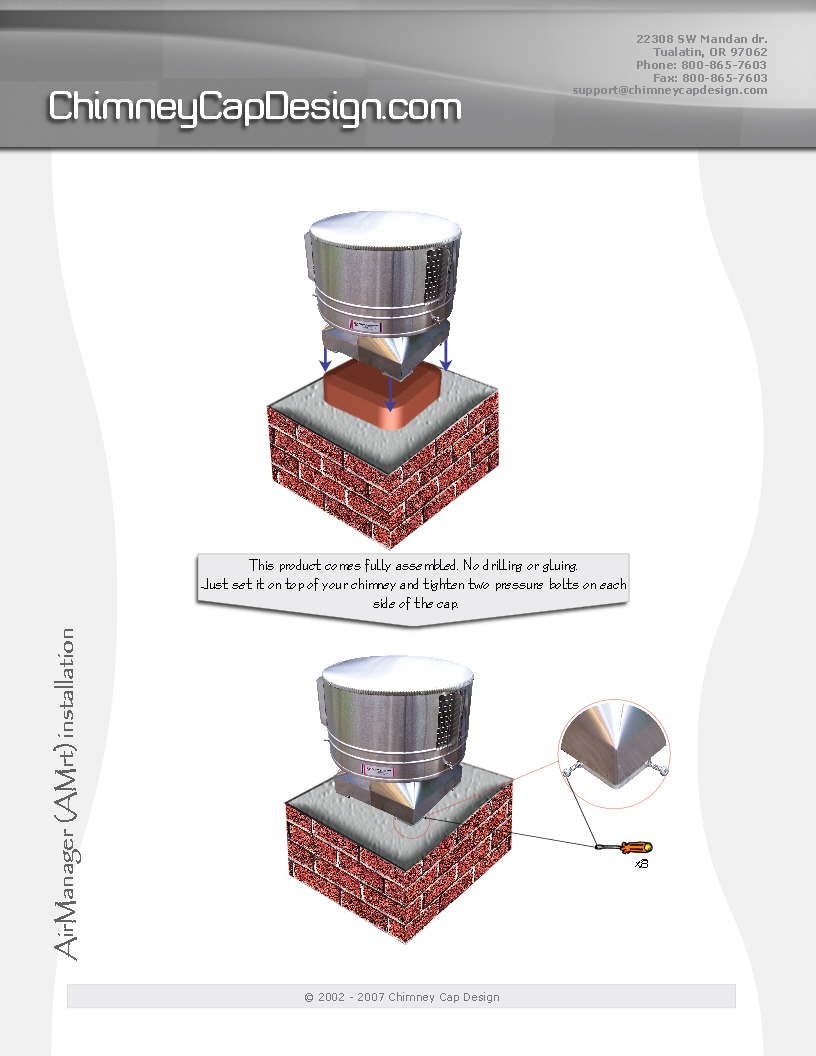 Chimney Cap Design : Installing chimney caps